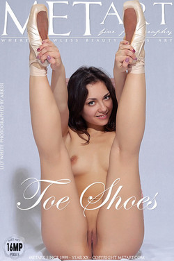 TOE SHOES: LILY WHITE by ARKISI